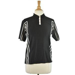 Burberry Golf Black and White Polo Shirt